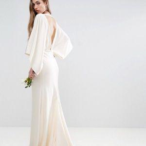 ASOS Bridal Collection Silk Ivory Dress w/ Train